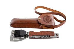 Yuppie Gift Baskets Braai Gadget Multi-tool In leather bag - KaryKase
