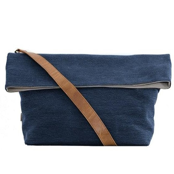 Zemp Long Beach Large Crossbody Bag | Blue - KaryKase