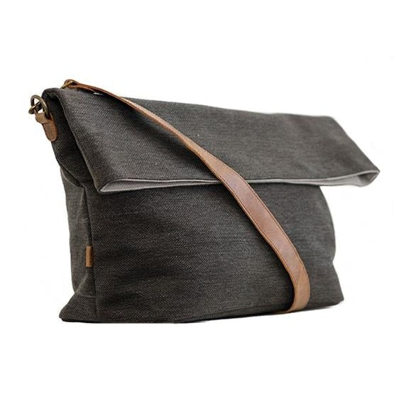 Zemp Long Beach Large Crossbody Bag | Charcoal - KaryKase
