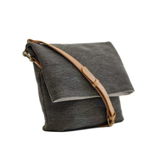 Zemp Long Beach Medium Crossbody Bag | Charcoal - KaryKase
