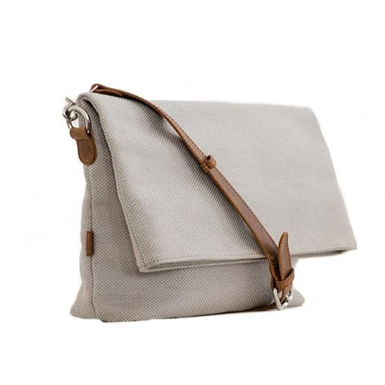 Zemp Long Beach Medium Crossbody Bag | Platinum - KaryKase
