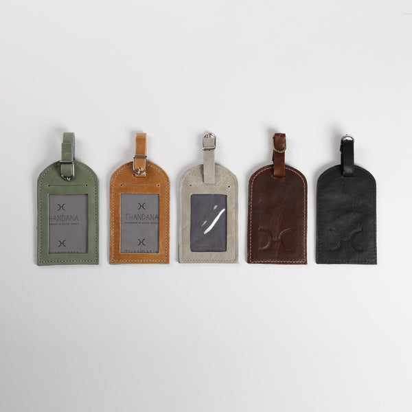 Thandana Leather Luggage Tag - KaryKase