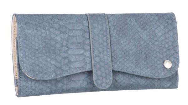 Caramia Madisson Jewel Roll Case | Navy Lizard - KaryKase