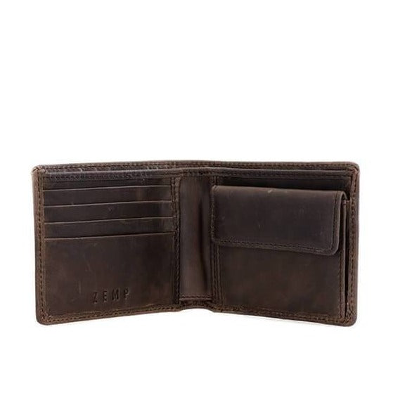 Zemp Max 4 CC Coin Billfold Wallet | Waxy Brown - KaryKase