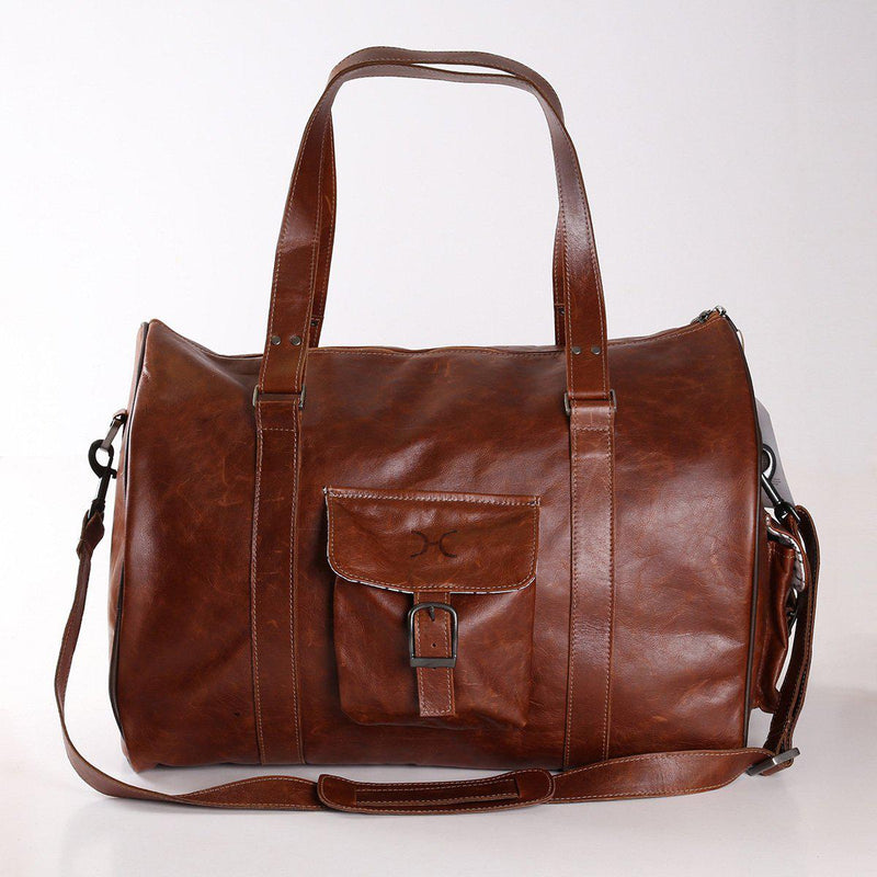 Thandana Mens Cabin Leather Luggage Bag