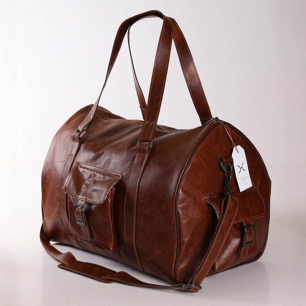 Thandana Mens Cabin Leather Luggage Bag - KaryKase