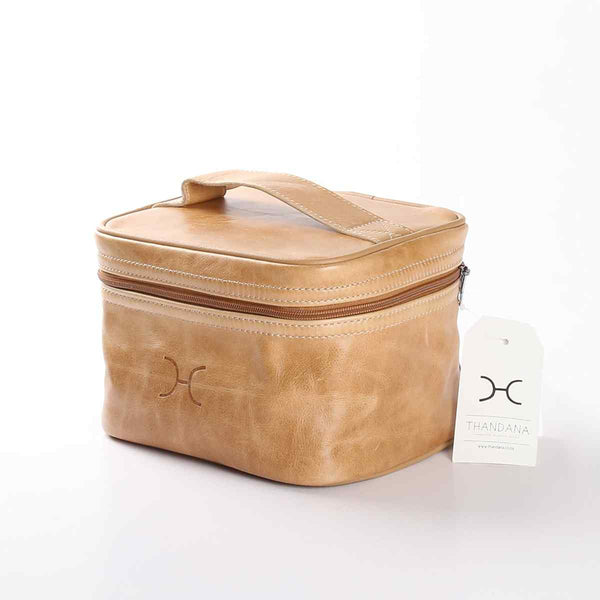 Thandana Leather Mini Decker Cooler Bag