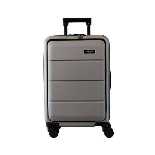 Escape Society 55cm Carry-On with Front Loading Laptop Pocket | Grey - KaryKase