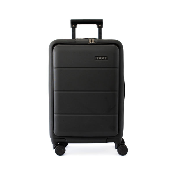 Escape Society 55cm Carry-On with Front Loading Laptop Pocket | Black - KaryKase