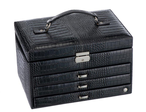 Caramia Nikita Jewel Box M | Black Croco - KaryKase