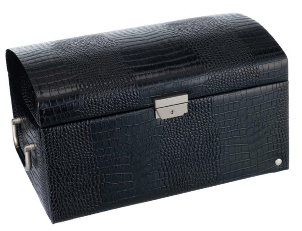 Caramia Nikita Large Jewel Box | Black Croco - KaryKase