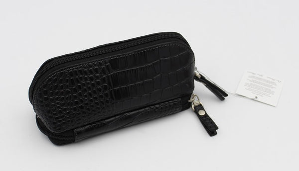 Caramia Nikita Cosmetic Jewel Case | Black Croco - KaryKase