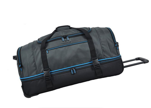 Tosca Double Decker 75cm Rolling Duffel Bag | Blue/Grey - KaryKase