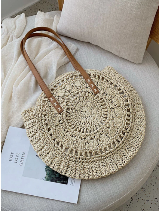 Semi Wild Round Crochet Shopper | Navy Blue - KaryKase