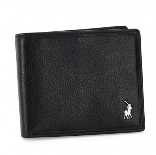 Polo Nappa Leather Small Multicard & Coin Wallet | Black - KaryKase