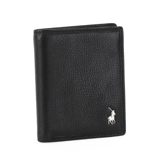 Polo Nappa Leather Credit Card Wallet | Black - KaryKase