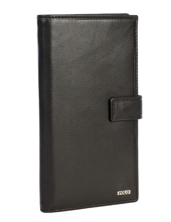 Polo Nappa Leather Travel Wallet | Black - KaryKase