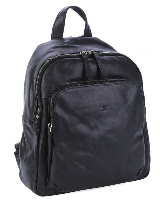 Polo Naples Leather Backpack | Black - KaryKase