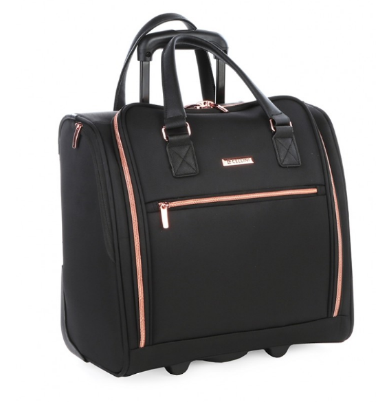 Cellini Allure Ladies Underseat Trolley Business Case | Black - KaryKase