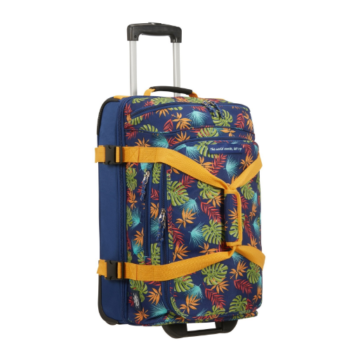 American Tourister Alltrail Wheeled Duffle S - 55cm | Tropical Leaves - KaryKase