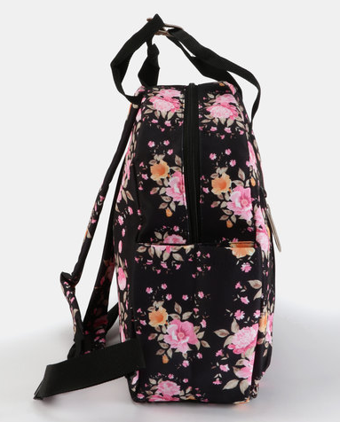Supanova Gisele Ladies Laptop Backpack | Black/Floral