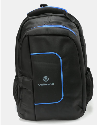 Volkano Bolt Series Backpack | Black/Blue