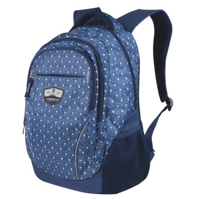 Volkano Champ Backpack 22L | Denim Dot - KaryKase