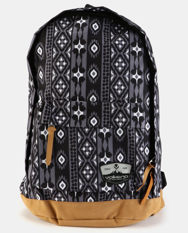 Volkano Suede Series Backpack | Ethnic (Dark Grey) - KaryKase
