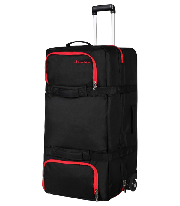 Travelwize Andy Sandwich 120L Rolling Duffel |  Black/Red - KaryKase