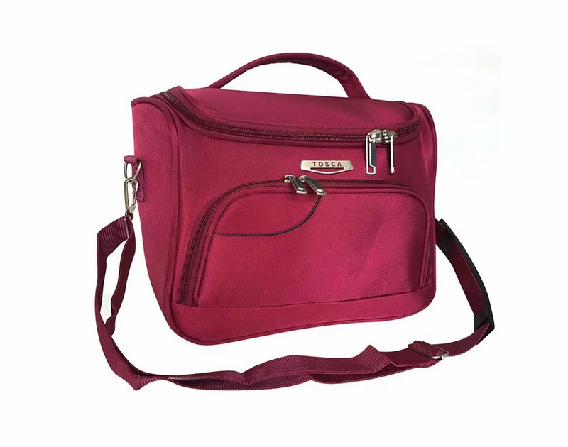 Tosca Gold Ultralight Soft Vanity Case | Red - KaryKase