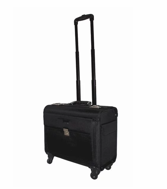 Tosca 1680D Laptop Pilot Cases with 4 wheels | Black