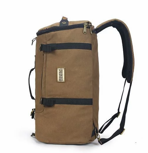 Tosca Canvas Duffel/Laptop Backpack | Coffee - KaryKase