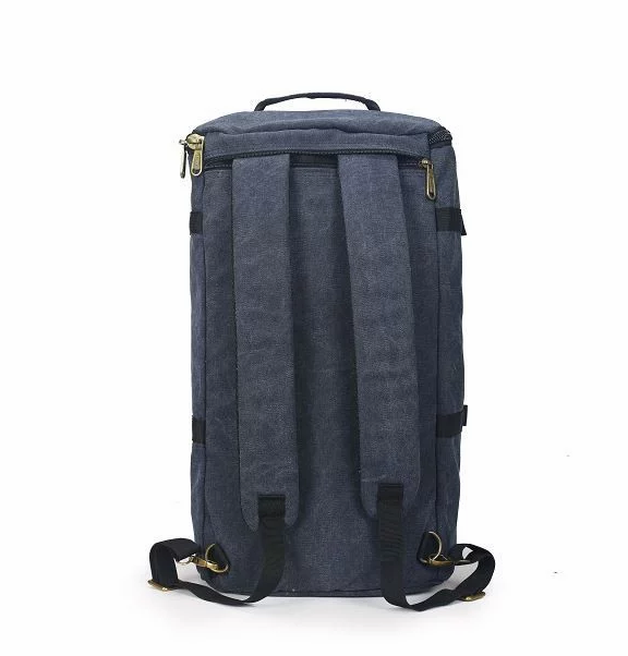 Tosca Canvas Duffel/Laptop Backpack | Navy - KaryKase