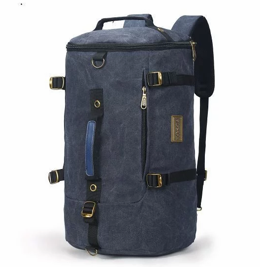 Tosca Canvas Duffel/Laptop Backpack | Navy