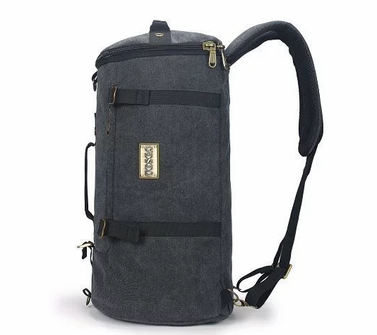 Tosca Canvas Duffel/Laptop Backpack | Black
