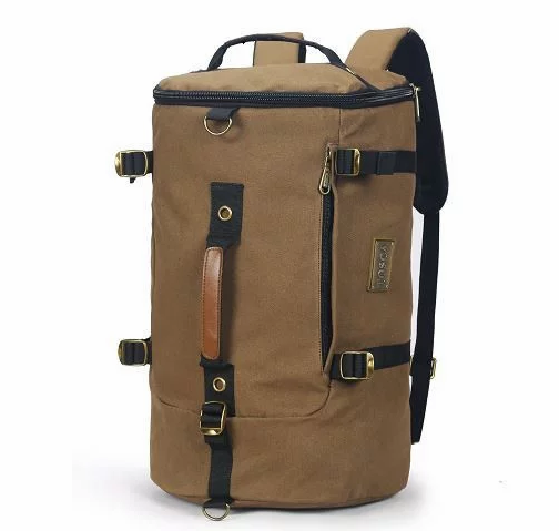 Tosca Canvas Duffel/Laptop Backpack | Coffee