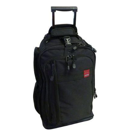 Tosca Trail Cardura Large Trolley Backpack | Black - KaryKase