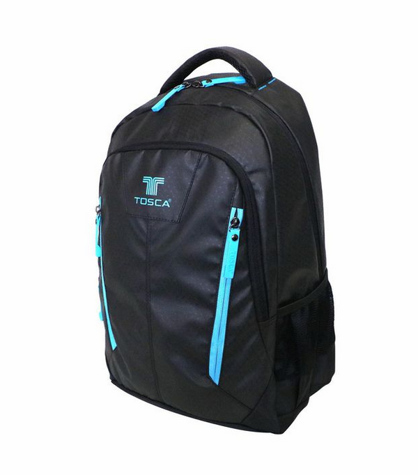 Tosca Twin-zip 14 inch Laptop Backpack | Black