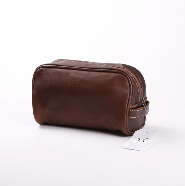 Thandana Mens Vanity Leather Case | Tobacco