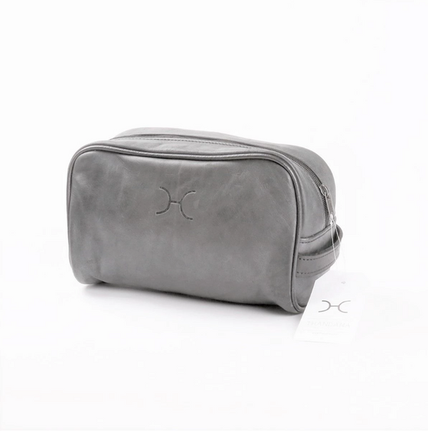 Thandana Mens Vanity Leather Case | Grey