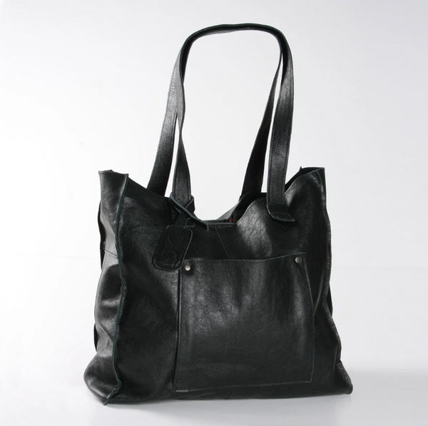 Thandana Tote Leather Handbag | Black - KaryKase