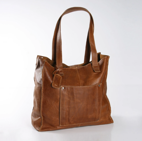 Thandana Tote Leather Handbag | Tobacco - KaryKase