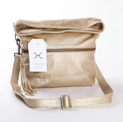 Thandana Erica Metallic Leather Handbag | Gold - KaryKase