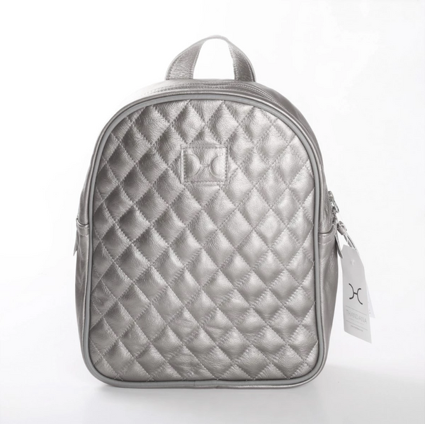 Thandana Jen Metallic Leather Backpack | Silver - KaryKase