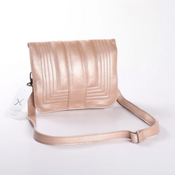 Thandana Katie Metallic Leather Sling Clutch | Rose Gold - KaryKase