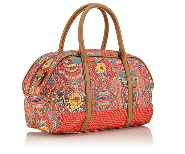 Oilily Ladies Boston Handbag | Coral - KaryKase