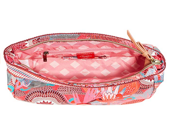 Oilily Large Cosmetic Pouch | Peach Rose - KaryKase