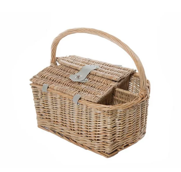 Yuppie Gift Baskets Wine Picnic Basket (2 Persons) | Natural Wicker - KaryKase
