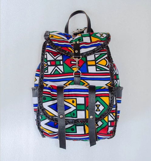 Mebala Handmade Boipelo Laptop Backpack | Black/White-MC - KaryKase