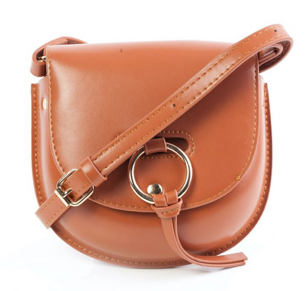 Tessa Design Faux Leather Bag | Brown - KaryKase